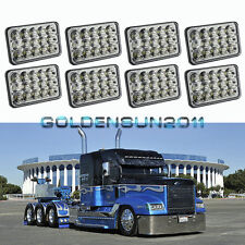 4 Pairs LED Headlights Sealed Beam Headlamps For FREIGHTLINER FLD120 112 FLD
