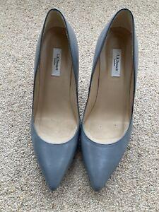 L K Bennett Floret Warm Grey Nappa Leather Court Shoes, Size UK 6, EU39