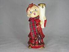 Vintage Star of Japan Paper Mache Candle Holder Singing Caroler Rare And Unique