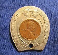 1958-D Encased Lincoln Wheat Cent Crawford Jewelers Philadelphia
