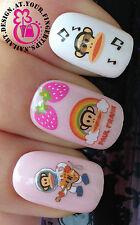 Nail Art Wrap transferencias de agua Stickers Calcomanías Set Monos Fresa Rainbow # 13