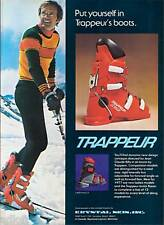 1977 Jean Claude Killy Photo Trappeur Ski Boots Ad