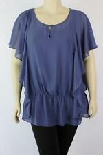 Autograph Cap Sleeve Solid Tops & Blouses for Women