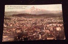 Vintage Postcard Mount Hood Portland OR 1913 Panama Pacific Expo Postmark