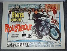 ROUSTABOUT orig rolled 22x28 poster ELVIS PRESLEY/HONDA 305 SUPERHAWK MOTORCYCLE