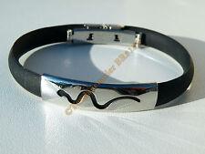 Bracelet Serpent 100 % Acier Inox + Caoutchouc Souple