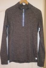 Danskin Now Womens Semi Fitted  Pullover Long Sleeve Thumb Hole Size M  1/4 Zip