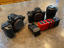Sony Alpha A7S II 12.2MP Digital Camera Lot of Two Body's, Kit Lens, Batteries