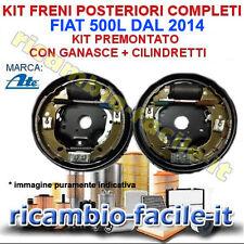 KIT FRENO A TAMBURO POSTERIORE COMPLETI FIAT 500L DAL 2014 GANASCE CILINDRETTI