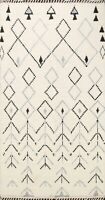 Geometric Moroccan Berber Oriental Area Rug Vegetable Dye Hand-Knotted Wool 4x7