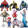 Spiderman, Buzz Lightyear, Super Mario, Transformers... AirWalkers Foil Balloons