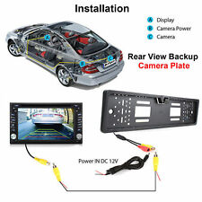 170° Car Vehicle Rear View Reversing Camera Backup Parking Plate Cam Waterproof