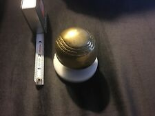 Vintage Penco Brass Baseball Paperweight With Marble Base