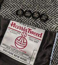 New 42R Classic Harris Tweed HandWoven Wool Herringbone Blazer Sport Coat Jacket