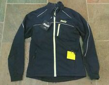 Swix Delda Light Soft Shell Jacket Men's Medium Black NEW! Ski Windbreaker $165