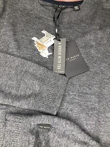 Ted Baker Men Sweater Cashmere Wool Blend Lightweight Pullover 6 2XL MSRP $149
