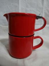 David's Tea Forlife Tea For One 2p Cup Lid with Infuser Red w Stainless Top 14oz