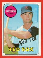 1969 Topps #130 Carl Yastrzemski EX+ WRINKLE Boston Red Sox HOF FREE SHIPPING