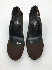 Women's Kenneth Cole New York Shoes SZ6 Brown Gold Buckle Dress Strapped