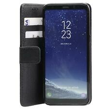 Black Leather Wallet Cover Flip Case For Huawei P20 in Black