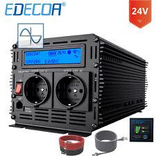 EDECOA REINER SINUS Spannungswandler 24V 230V 2500W 5000W Wechselrichter RV