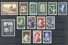 GERMANY - SAARLAND 1952  MI#  305/312, 314/16 , 338/40   CV € 272  USED VF