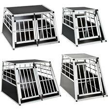 More details for dog pet transport transportation aluminium carrier box cages crate car travel