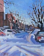 Morning Shadows, Montreal,  8x10, Oil , Darlene Young Canadian Artist