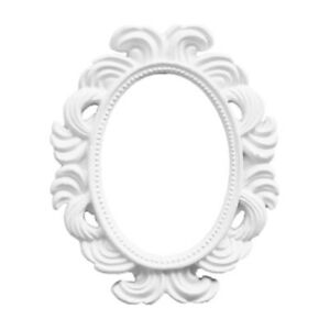White Oval Baroque Photo Frame Place Card Holder Picture Frame Wall Decor