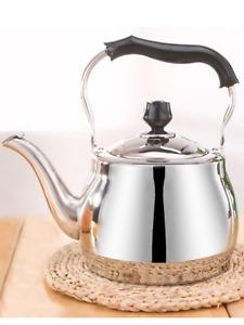 Potobelo Italia Stainless Steel Tea-Pot Tea Kettle w/ Lid & Plastic Handle 2.5 L