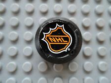 Lego 1 x Hockey Puck bb116pb02  schwarz Sticker NHL  3540 3541 3542 3543