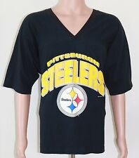 Vintage Pittsburgh Steelers 1995 T-SHIRT 2XL Black NFL Football V-Neck
