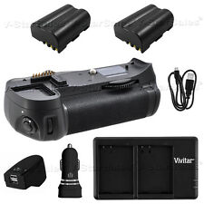 Battery Grip Nikon D300 D700 + 2x Nikon EN-EL3E Battery + AC/DC Dual Charger Kit