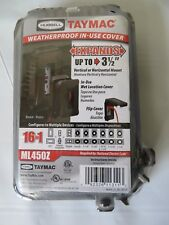Taymac Weatherproof Outlet Cover ML45OZ Configures to Multiply Devices New #6198