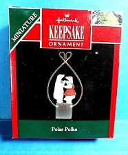 "Hallmark ""Polar Polka"" Miniature Ornament 1992"