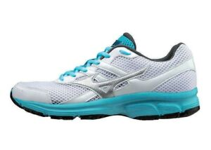Mizuno Spark Running Shoes Womens 5.5 White Blue Low Lace Trainers
