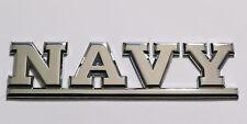 Navy Emblem. Die-Cast Electroplated Metal Emblem.
