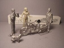4  FIGURINES  1/43  SET 388  HARLEY DAVIDSON  VROOM  UNPAINTED  O SCALE