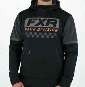 Brand New FXR Men's Race Division PO Hoodie ~ Black/Orange ~ M ~ #211121-1030-10