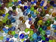 Two Pounds/ 2 Lbs- Round Glass Beads- Assorted Colors & Sizes- Destash Lot