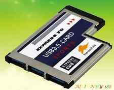 3 Ports Hub 54mm Expansion Expresscard to USB 3.0 Adapter Converter For PC 1PC Y