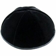 LOT 1\10 Black Satin Yarmulkah Yamaka Kipot Kipah Kippa Yarmulke  Kippah Jewish