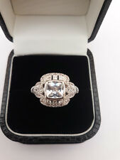 Vintage Art Deco style Cushion Cut Antique Ring Size R and a half