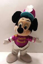 "Vintage Mickey Mouse Marching Band Plush 14"" Disneyland"