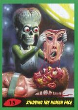Mars Attacks The Revenge Green Base Card #15 Studying the Human Face