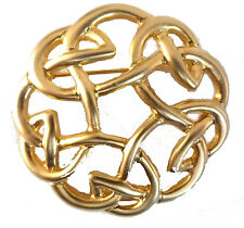 LADIES GOLD PLATED CELTIC KNOT SCARF PIN / BROOCH (8009)