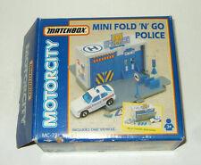 Matchbox Motorcity Garage Police station Mini Fold 'N' Go MC-73