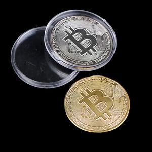 2Pcs Metal Bitcoin Collectible BTC Coin Pirate Treasure Props Toys For PartyIYK