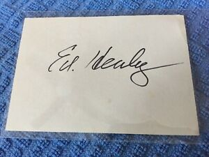 ED HEALEY SIGNATURE Chicago Bears  PRO FOOTBALL Hall Of Fame Autograph, d.1978