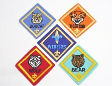 Cub Scout Rank Badges BSA Boy Scout Patch Bear, Bobcat, Wolf, Tiger Cub Weeblos